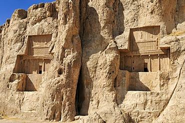 Tomb of Darius II. and of Artaxerxes I., Achaemenid burial site Naqsh-e Rostam, Rustam near the archeological site of Persepolis, UNESCO World Heritage Site, Persia, Iran, Asia