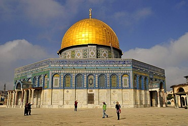 Dome of the Rock, Qubbet es-Sakhra, on the Temple Mount, Jerusalem, Israel, Middle East, Orient