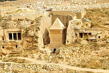 Grave of Zechariah from the 1st century after Christ, Kidron Valley, Jerusalem, Israel, Middle East, Orient