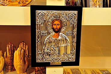 Icon picture in a shop in the souq, market, in the Old City of Jerusalem, Israel, Middle East, Orient