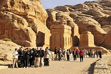 Entrance to the Nabataean city Petra, UNESCO World Heritage Site, near Wadi Musa, Jordan, Middle East, Orient