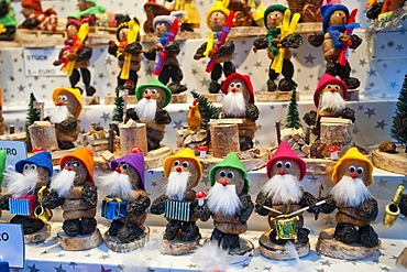 Zwetschgenmaennla, traditional figurines made of prunes, Christmas ornaments
