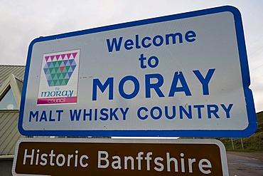 Sign, Moray Malt Whisky Country, Scotland, United Kingdom, Europe