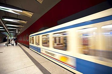Metro station at Moosfeld, Munich, Bavaria, Germany, Europe