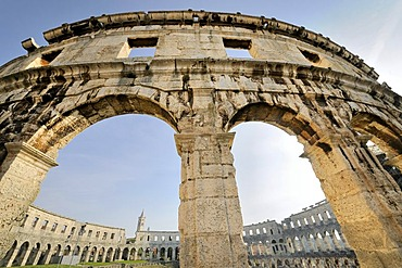 Roman amphitheatre of Pula, Croatia, Europe