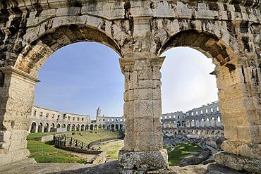 Roman amphitheatre of Pula, Croatia, Europe