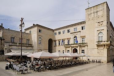 Narodni trg square in Zadar, Croatia, Europe