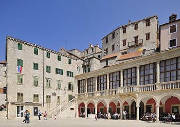 Loggia on Cathedral Square in Sibenik, Croatia, Europe