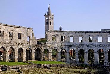 Roman amphitheater, Pula, Croatia, Europe