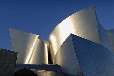 Walt Disney Concert Hall, facade detail, stainless steel, Los Angeles, California, USA