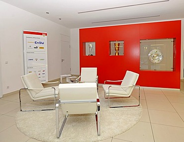 Interior, foyer, office of the VfB Stuttgart football club, Stuttgart, Baden-Wuerttemberg, Germany, Europe