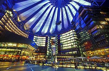 Sony Center under the tent roof, Berlin Tiergarten, Berlin, Germany, Europe