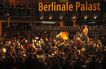 Berlinale film festival, red carpet, Berlinale Palast, Theater on Potsdamer Platz square, Marlene-Dietrich-Platz square, Tiergarten district, Berlin, Germany, Europe