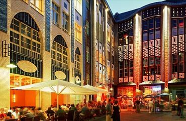 Hackescher Hoefe courtyard with movie theater, Variete Chamaeleon theatre and restaurants, Rosenthaler Strasse, Mitte district, Berlin, Germany, Europe