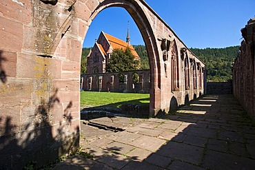 Hirsau Abbey, cloister, with Mary's Chapel, Hirsau, Black Forest, Baden-Wuerttemberg, Germany, Europe
