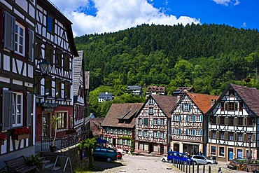 Marketplace, Schiltach, Black Forest, Baden-Wuerttemberg, Germany, Europe