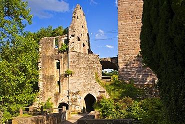 Burgruine Zavelstein castle ruins, Bad Teinach Zavelstein, Black Forest, Baden-Wuerttemberg, Germany, Europe