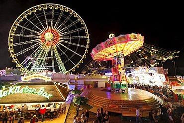 Cranger Kirmes fair, the biggest fair in the Ruhr area, at the Rhine-Herne Canal, Herne, North Rhine-Westphalia, Germany, Europe