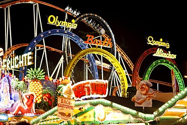 Cranger Kirmes fair, the biggest fair in the Ruhr area, at the Rhine-Herne Canal, Herne, North Rhine-Westphalia, Germany, Europe
