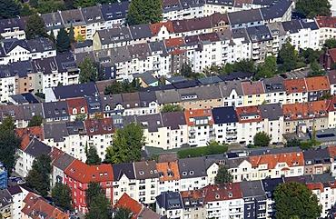 Houses, apartment buildings, Ruettenscheid quarter, Essen, North Rhine-Westphalia, Germany, Europe