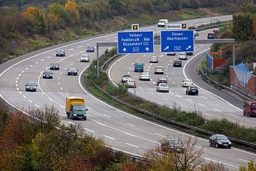 A44 motorway, near Duesseldorf, Airport Highway, junction to the A52, junction Duesseldorf-Nord, Duesseldorf, North Rhine-Westphalia, Germany, Europe