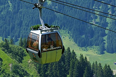 Kanzelwandbahn cable car, Kleinwalsertal, Little Walser Valley, Allgaeu, Vorarlberg, Austria, Europe