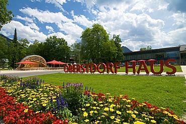 Music shell in the Spa Park in Oberstdorf, Allgaeu, Bavaria, Germany, Europe