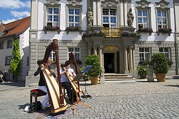 Town hall in Wangen im Allgaeu, Upper Swabia, Allgaeu, Baden-Wuerttemberg, Germany, Europe