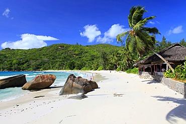 Restaurant Chez Batista on Anse Takamaka beach, Mahe island, Seychelles, Africa, Indian Ocean