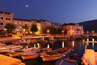 Boat harbor in Pag, Pag island, Dalmatia, Adriatic Sea, Croatia, Europe