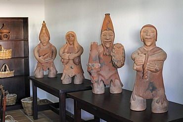 Clay figures in the Casa Museo del Campesino, Lanzarote, Canary Islands, Spain, Europe