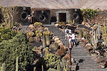 Cactus garden, Jardin de cactus, designed by Cesar Manrique, Guatiza, Lanzarote, Canary Islands, Spain, Europe