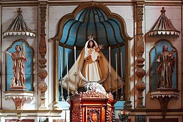 Altar in the Church of Nuestra Senora de Remedios, Yaiza, Lanzarote, Canary Islands, Spain, Europe