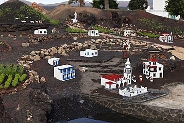 Detail of a Nativity scene in Yaiza, Lanzarote, Canary Islands, Spain, Europe