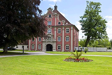 Lower Gate building, Salem Abbey, a monastery of the Cistercian order, South German Rococo style, location of the Salem Castle Boarding School, Salem municipality, Linzgau, Baden-Wurttemberg, Germany, Europe