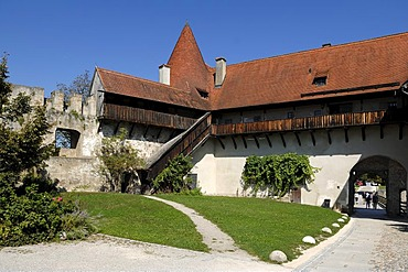 Part of the castle complex, 12th century, Burghausen, castle No. 48, Burghausen, Upper Bavaria, Germany, Europe