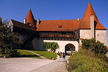 Part of the fortress, 14th - 15th century, castle No. 48, Burghausen, Upper Bavaria, Germany, Europe
