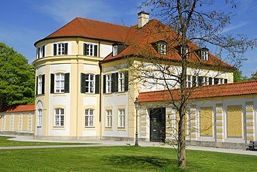 House on the Northern Schlossrondell, Schloss Nymphenburg palace, Neuhausen-Nymphenburg, Munich, Upper Bavaria, Bavaria, Germany, Europe
