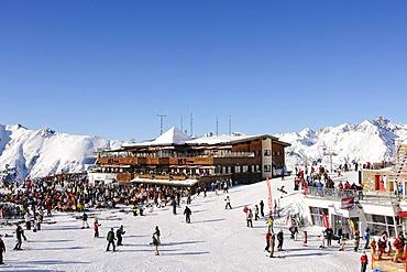Silvretta middle station, Ischgl ski resort, Tyrol, Austria, Europe