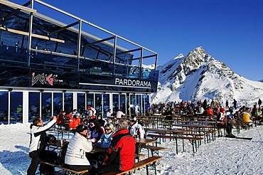 Pardorama mountain restaurant, Ischgl ski resort, Tyrol, Austria, Europe