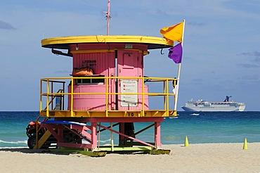 Lifeguard Tower, beach tower, Miami South Beach, Art Deco District, Florida, USA