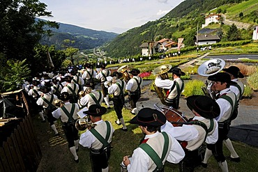 Herz-Jesu-Prozession, Sacred Heart Procession in Feldthurns, Brixen, South Tyrol, Italy, Europe