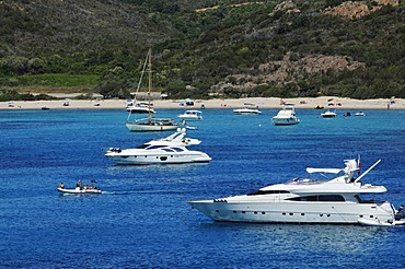 Boats, Golf di Rondinara, Corsica, France, Europe