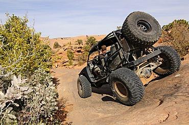 Jeep on the Slickrock Trail, Moab, Utah, USA
