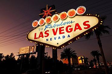 Welcome sign, Las Vegas, Nevada, USA