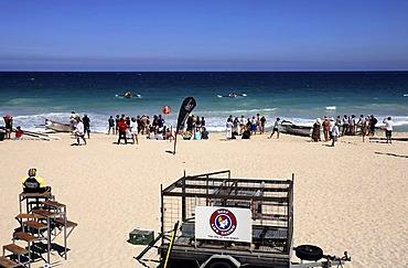 Surf Life Savers Trailer on Scarborough Beach, Perth, Western Australia, Australia