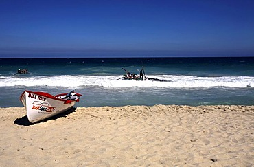 Surf Life Savers boats colliding during a competition at Scarborough Beach, Perth, Western Australia, Australia