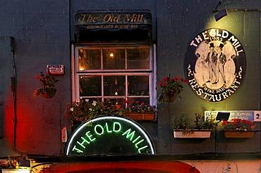 The Old Mill, Irish bar restaurant, signs, Dublin, Ireland, Europe