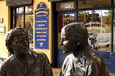 Two Irish figures, Dublin, Ireland, Europe