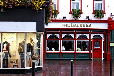 Clothing shop and The Laurels restaurant, Killarney, Ireland, Europe